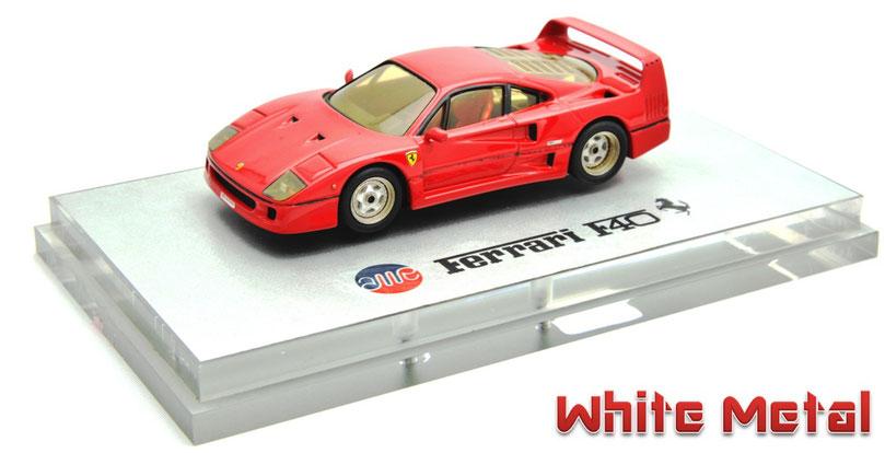 1/43 AMR Ferrari F40 white metal フェラーリF40 ホワイトメタル製
