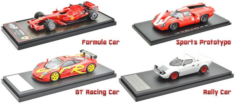 1/43 Ferrari F2008, Lola T70 Mk2, McLaren F1 GTR, Lancia Stratos, ローラT70, ランチア・ストラトス, マクラーレンF1 GTR, フェラーリ F2008