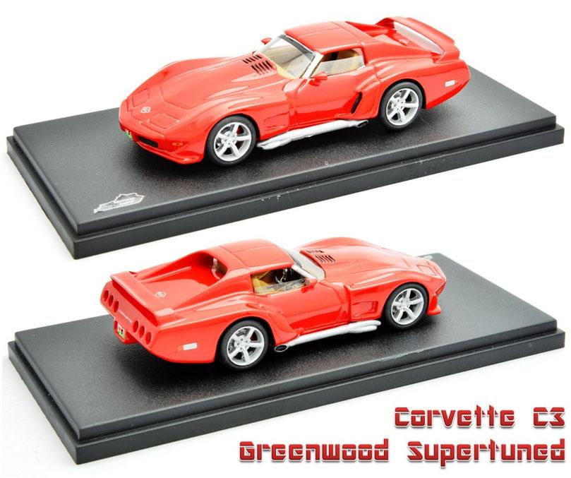 1/43 Corvette Greenwood Superturned / コルベット・グリーンウッド・スーパーチューンド