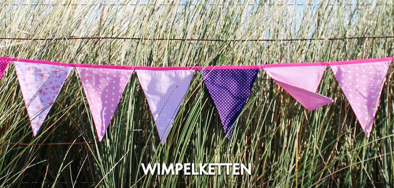 Julia Design Handarbeit handmade Wimpelkette Wimpel Girlande Deko Dekoration