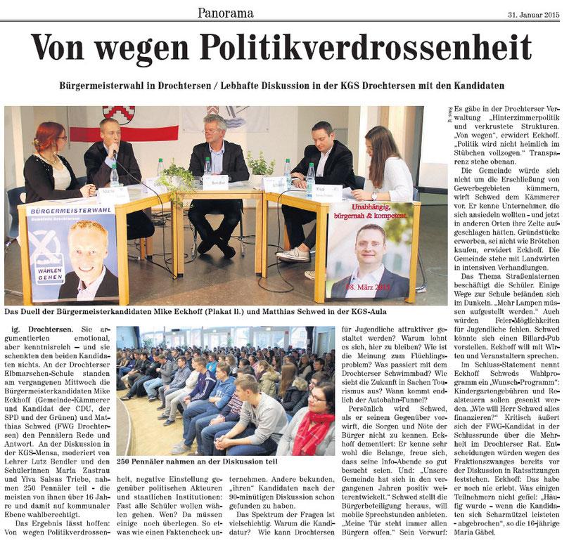 Neue Stader Wochenblatt vom 31.01.2015