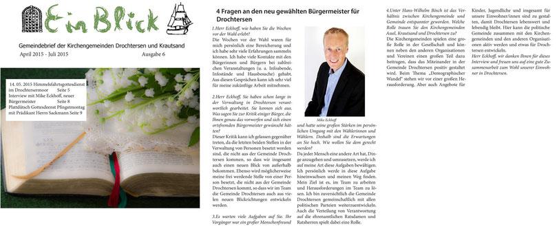 Gemeindebrief der Kirchengemeinde Drochtersen und Krautsand - Ausgabe 6