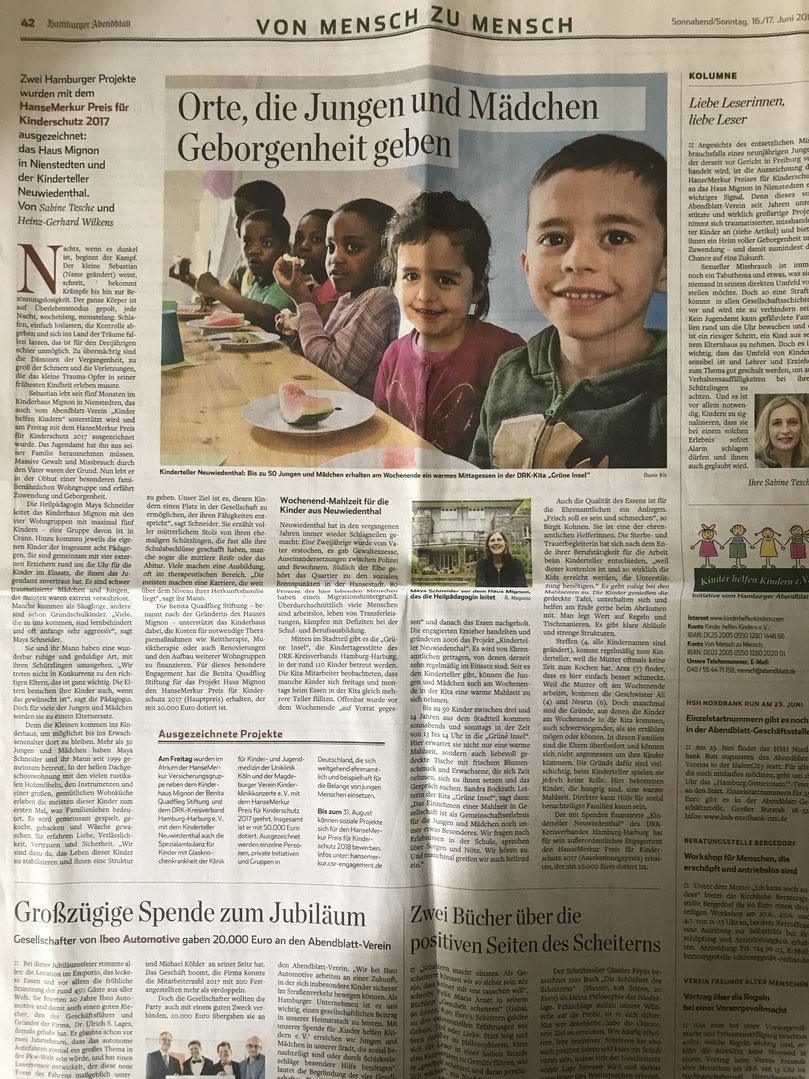 Hamburger Abendblatt vom 16.6.2018