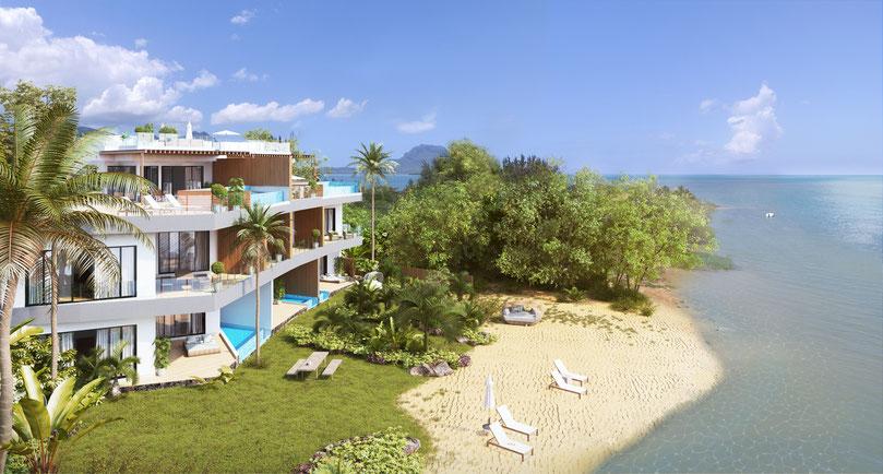 achat appartement de luxe à l'île Maurice avec VUE MER à ILE MAURICE