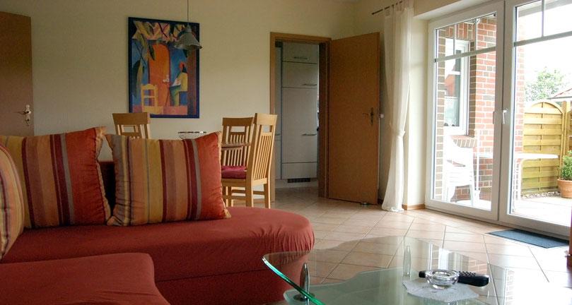 Wohnzimmer Ferienwohnung Hengsthamm 9