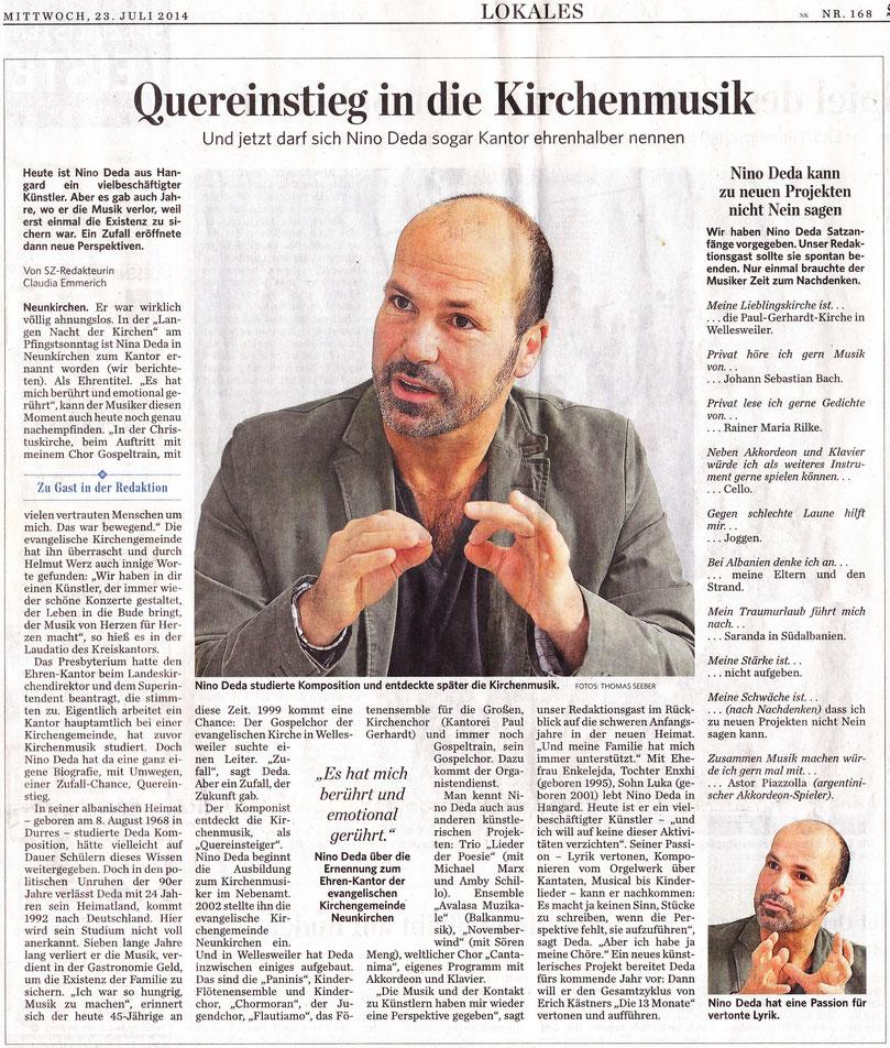 Saarbrücker Zeitung, 23.07.14