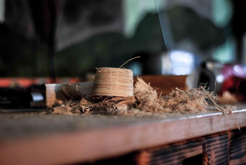 Holzspäne in meiner Werkstatt in Puch bei Weiz