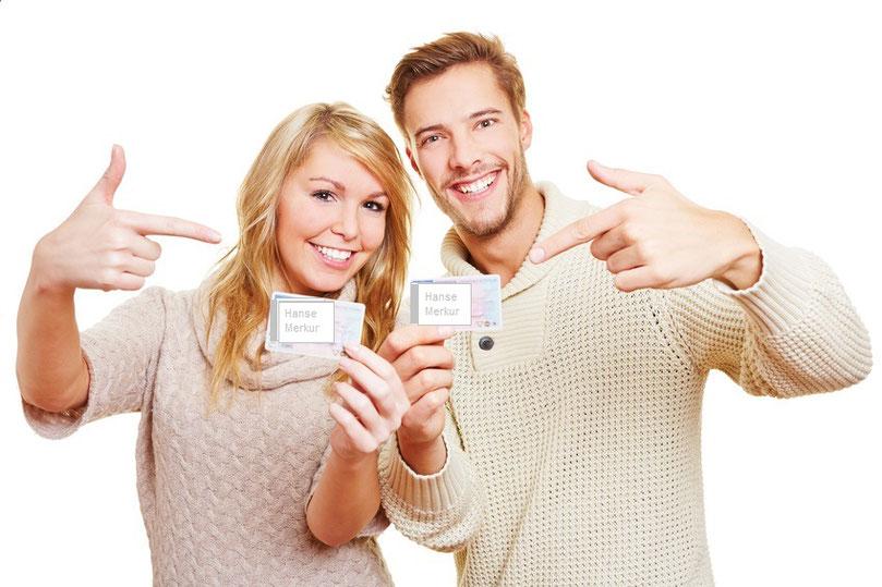 Zusatzversicherung ambulant zufriedene lachende Kunden