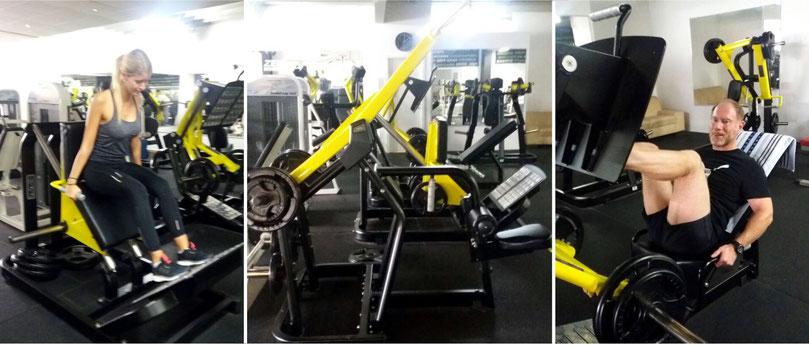 Hammer strength plate loaded area gym fitnesscenter fürth