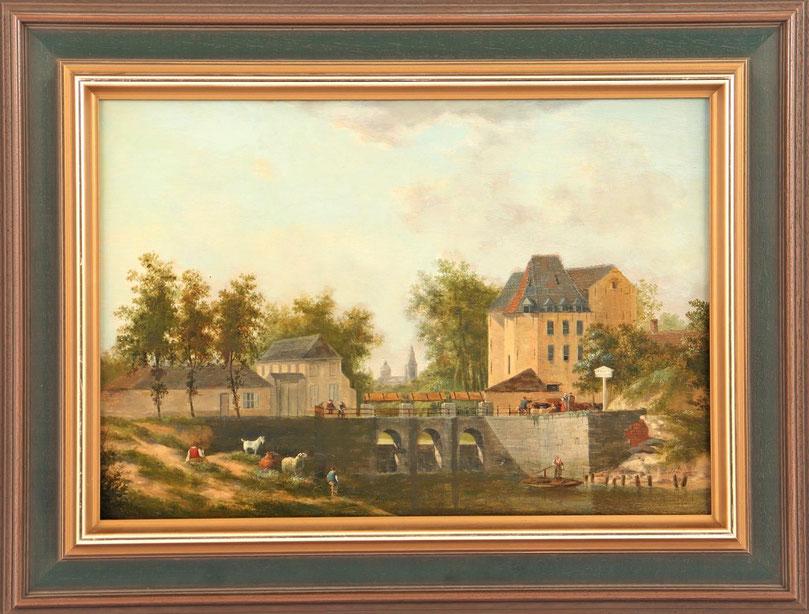 te_koop_aangeboden_een_stadsgezicht_van_de_belgische_kunstschilder_dominique_de_bast_1781-1842