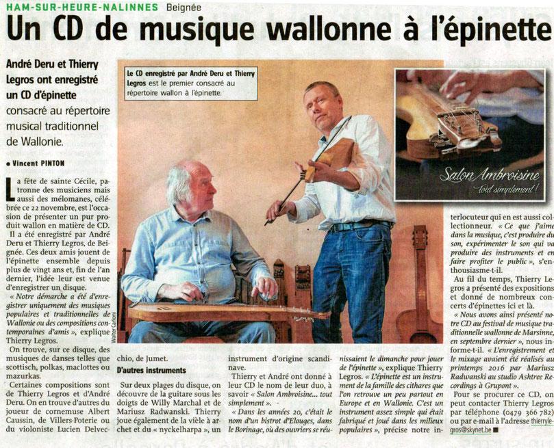 Duo d'épinette Salon Ambroisine Thierry Legros Vers l'Avenir Vincent Pinton