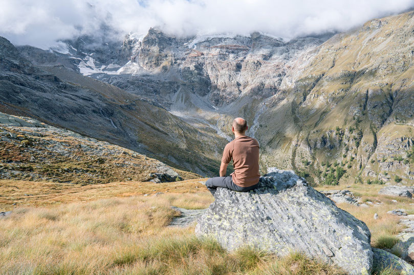 Hiking in the Gran Paradiso National Park, starting in Valnontey, Aosta Italy.