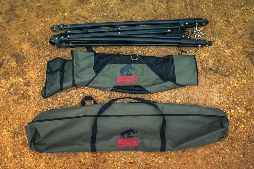 Tembo hammock and its storage bag