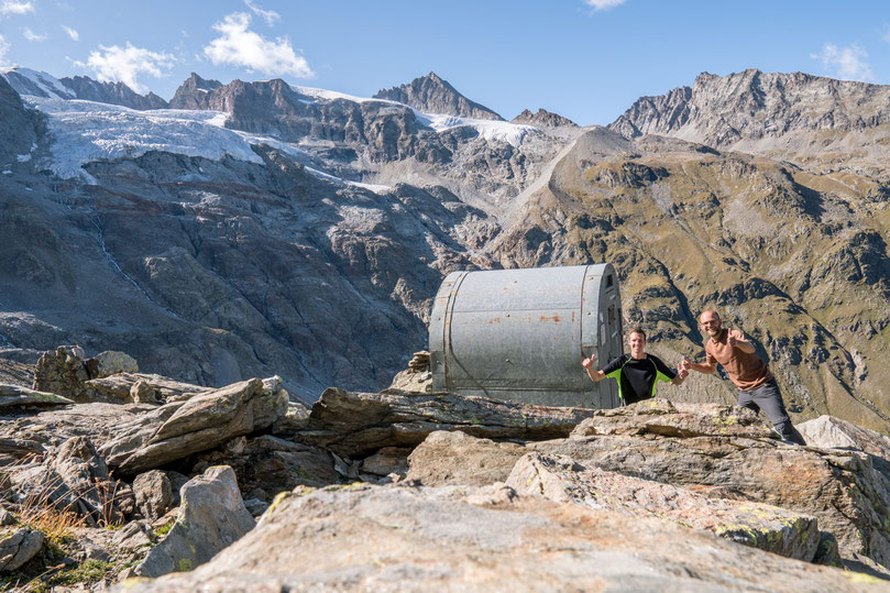 Sleeping in Bivacco Martinotti, unmanned hut, in the Gran Paradiso National Park, Italy.