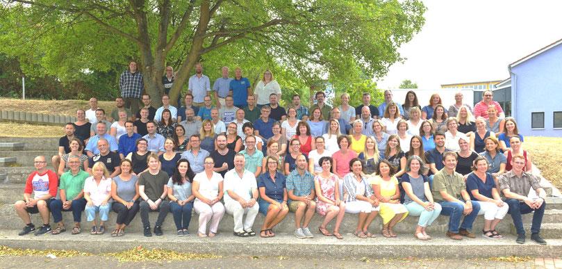 Das Kollegium der Wilhelm-Filchner-Schule im Schuljahr 2018/19