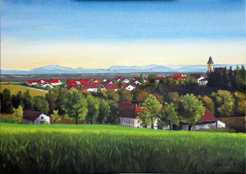 Sommer in Pergkirchen (70x50cm)