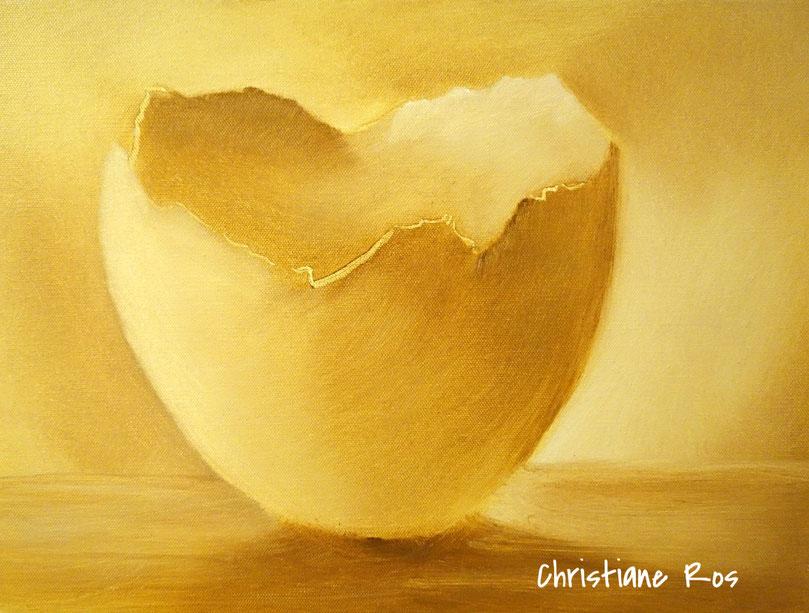gemalte Eierschale - Öltechnik - © Christiane Ros