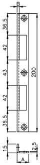 Winkelschliessblech MSL 1870.11