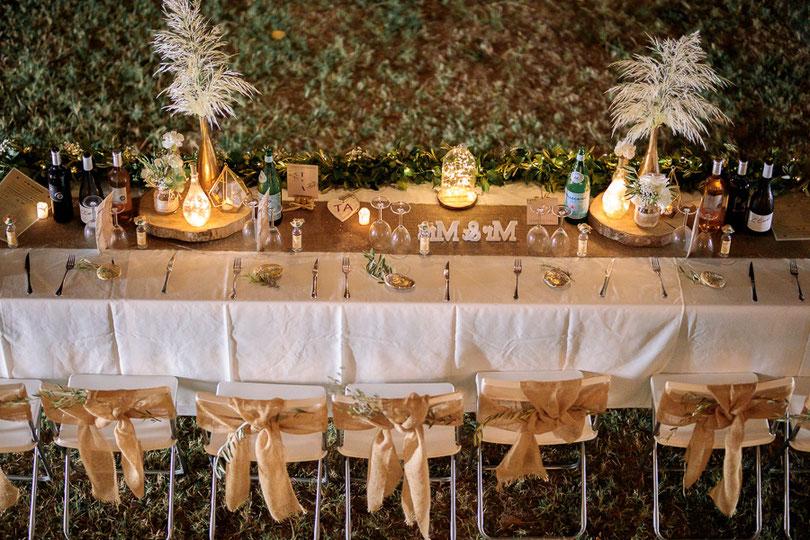 photographe mariage montpellier table des mariés