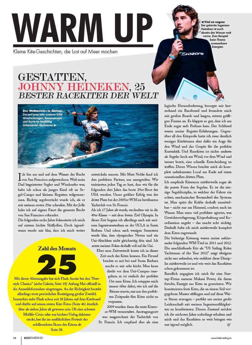 Kiteboarding.de Johnny Heinecken Interview