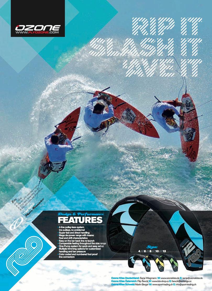 Ozone Werbeanzeige Kiteboarding.de 3/2012
