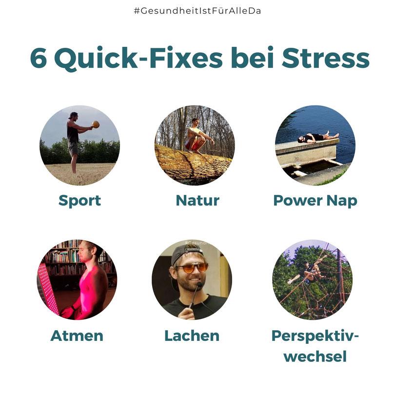 Schnelle Tipps bei Stress