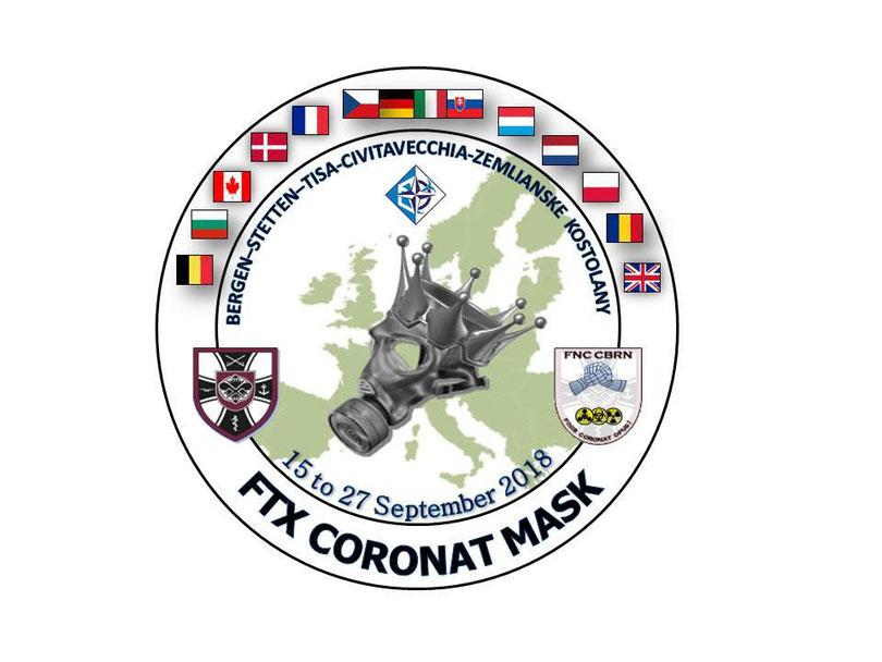 Offizielles Wappen der Übung Coronat Mask 2018. / Oliver Günther (Foto: ABCAbwKdoBw)