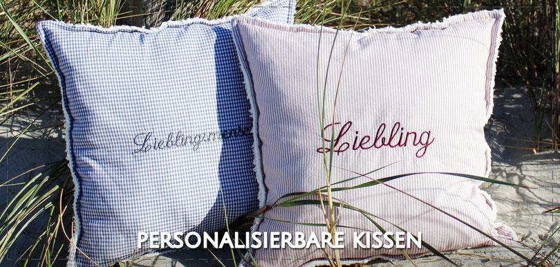 Julia Design Handarbeit handmade Kissen Teddy-Plüsch personalisierbar Dekokissen Zierkissen Deko weich Stoff