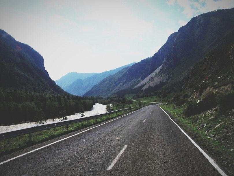 bigousteppes republique altai russie montagne route foret