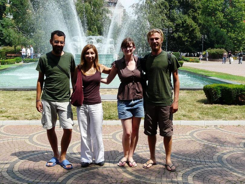 Avec Eli et Sirma, nos hotes et guides a Sofia