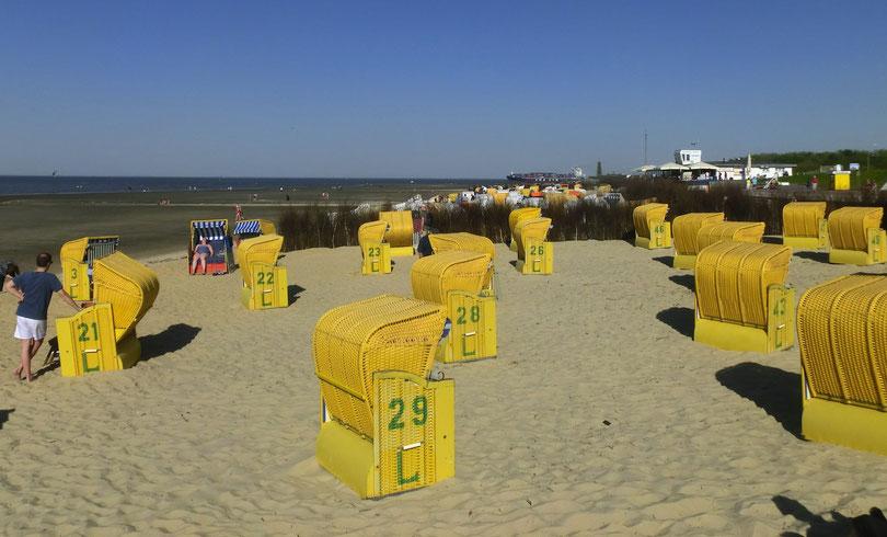 Ferienwohnungen am Cuxhavener Sandstrand, ruhige Lage, exklusiv, einfach, Nordseeküste, Nordseeheilbad