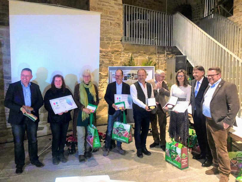 Die feierliche Überreichung der Bugamedaillen an alle Thüringer Gärtner auf dem Egagelände in Erfurt durch den Landesverband Gartenbau Thüringen