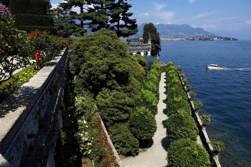 Photographie, voyage Italie, Piémont, lac Majeur, isola bella, jardins, architecture, art, couleurs, vert, été, vacances, Mathieu Guillochon