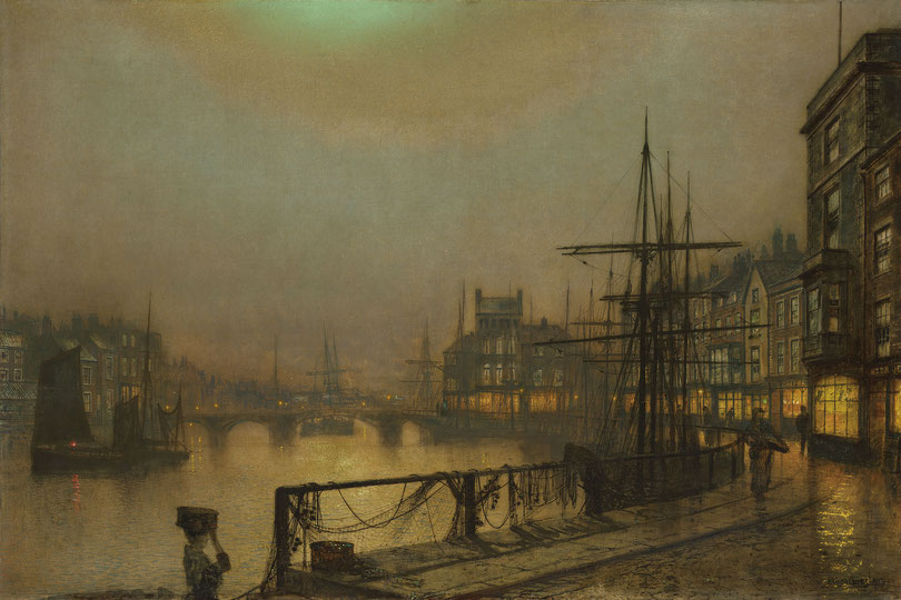 "John Atkinson Grimshaw, ""Notturno di Whitby"" (1883)"