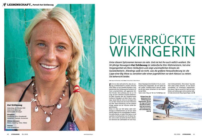 Kari Schibevaag in Kiteboarding.de