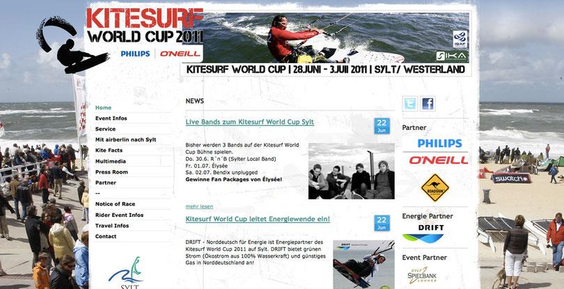 Kitesurf Worldcup Homepage