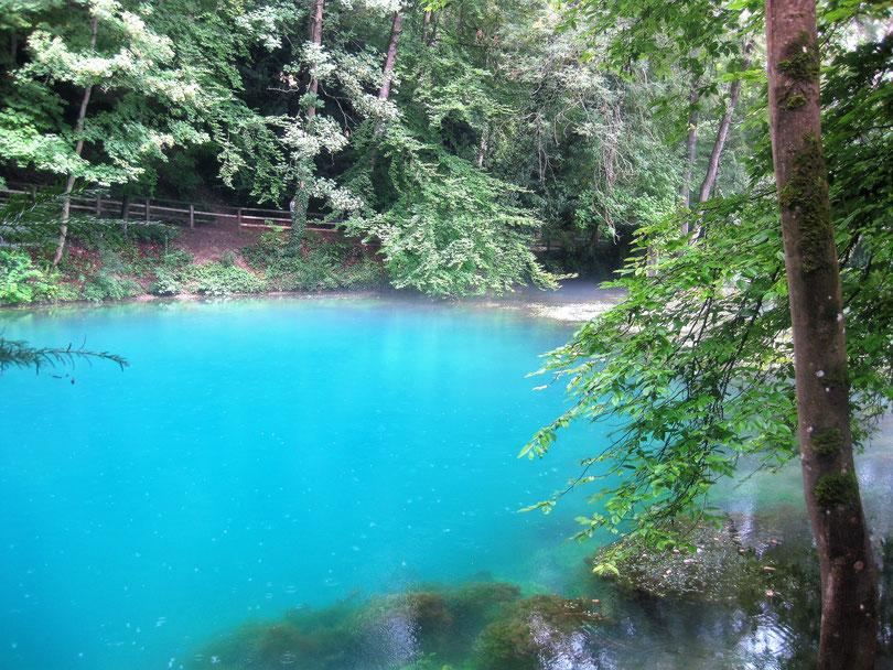 Der schwäbische Blautopf in Blaubeuren ist ein mystisches Gewässer, das enorm in die Tiefe geht