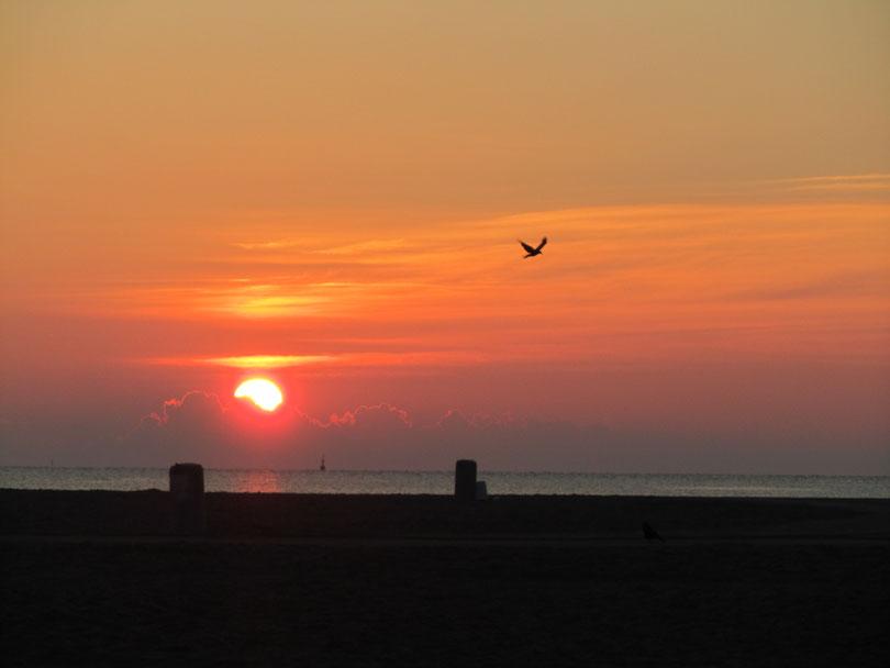 Travemünde Strand Sonnenaufgang