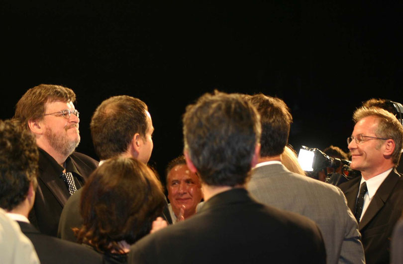 Michael MOORE - Festival de Cannes 2004 - Photo © Anik COUBLE