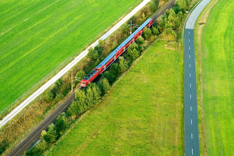 Bahnlinie bei Schnega