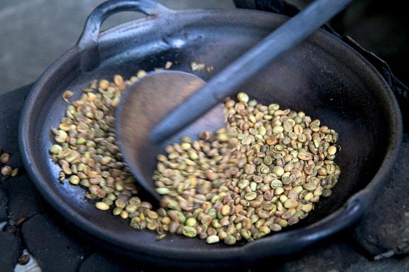 Kaffee-Röstung in Ubud