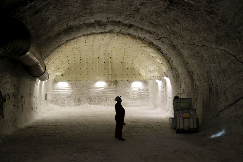 6,50 Meter breit und 4,50 Meter hoch sind die Strecken im Salzstock