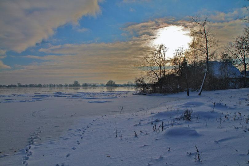 Januar: Wintersonne bei Damnatz