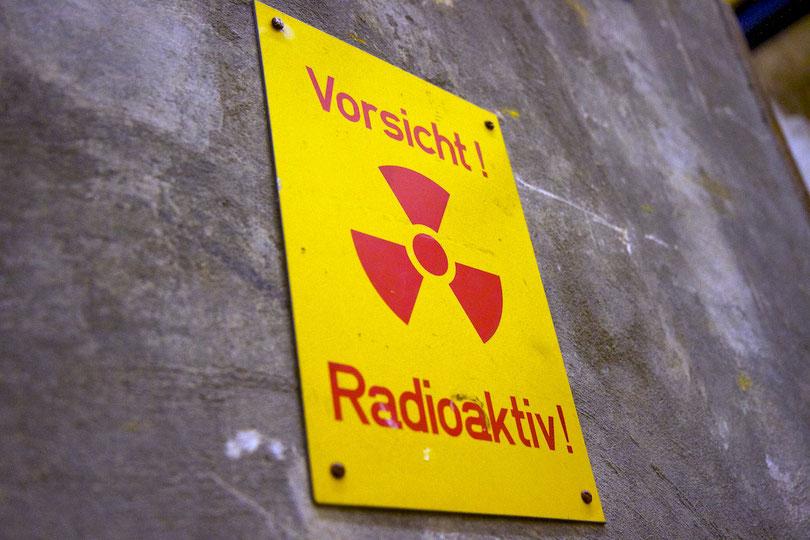 Eingang zur Landessammelstelle für radioaktive Abfälle