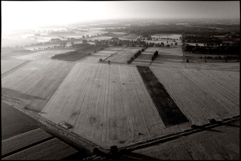 Felder voller Raureif bei Jameln