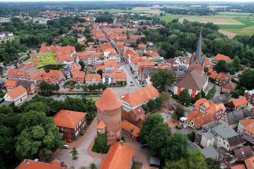 Dannenberg: Waldemarturm und St.-Johannis-Kirche