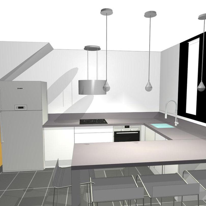 projet cuisine visualisation 3D pers