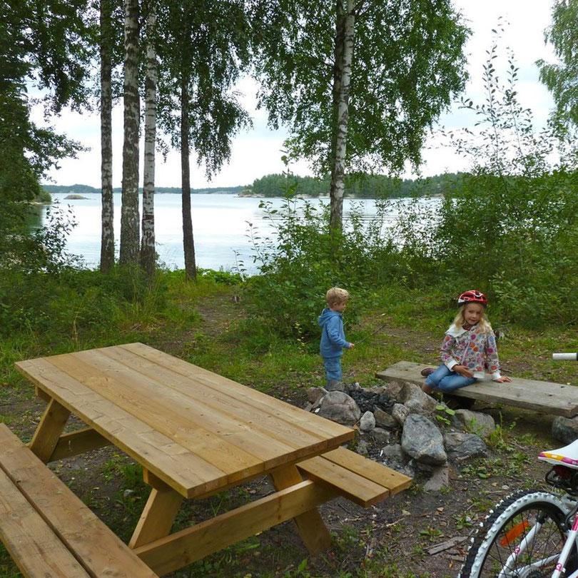 Mit dem Rad unterwegs bei Valdemarsvik