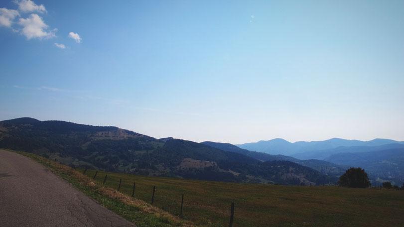 route bigousteppes france vosges montagne ciel bleu