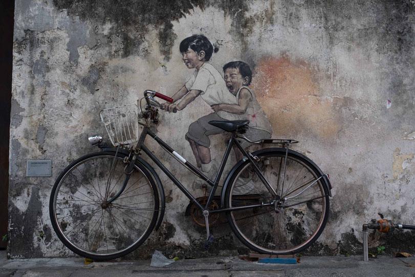 Ernest Zacharevic´s Straßenkunst in Georgetown